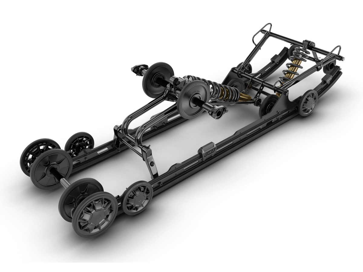 Lynx EasyRide-F rear suspension, technical structure